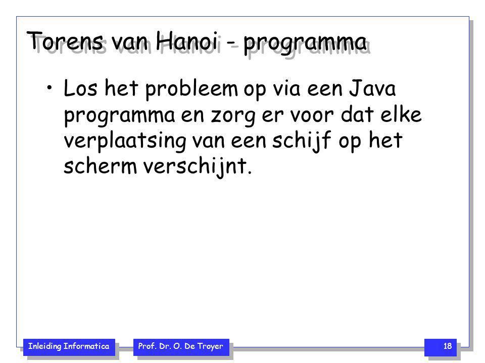 Torens van Hanoi - programma