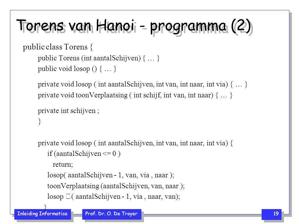 Torens van Hanoi - programma (2)