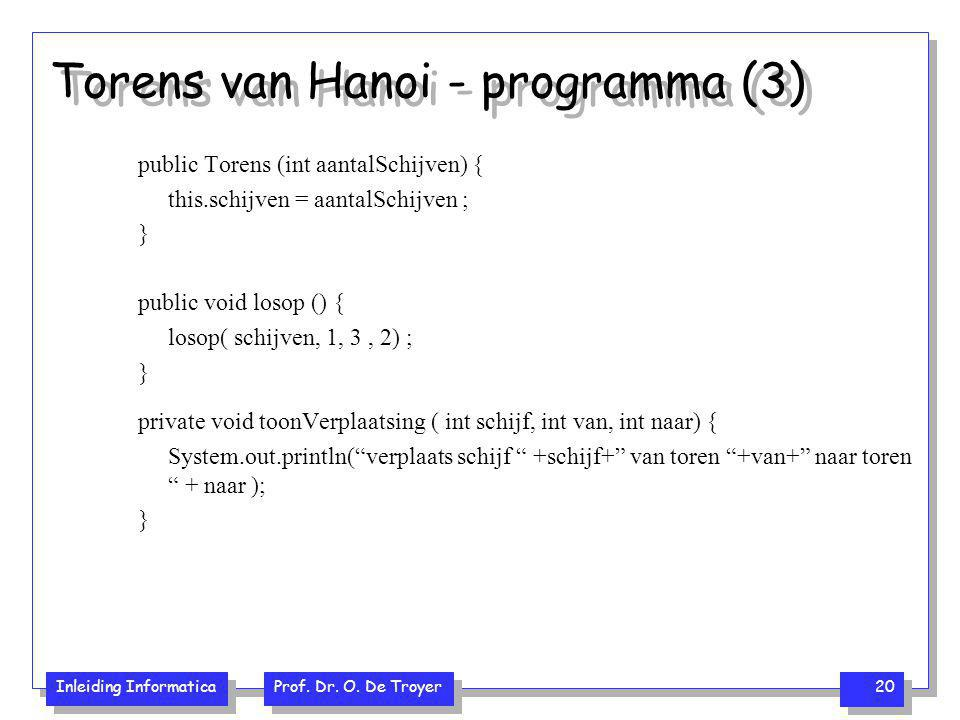 Torens van Hanoi - programma (3)