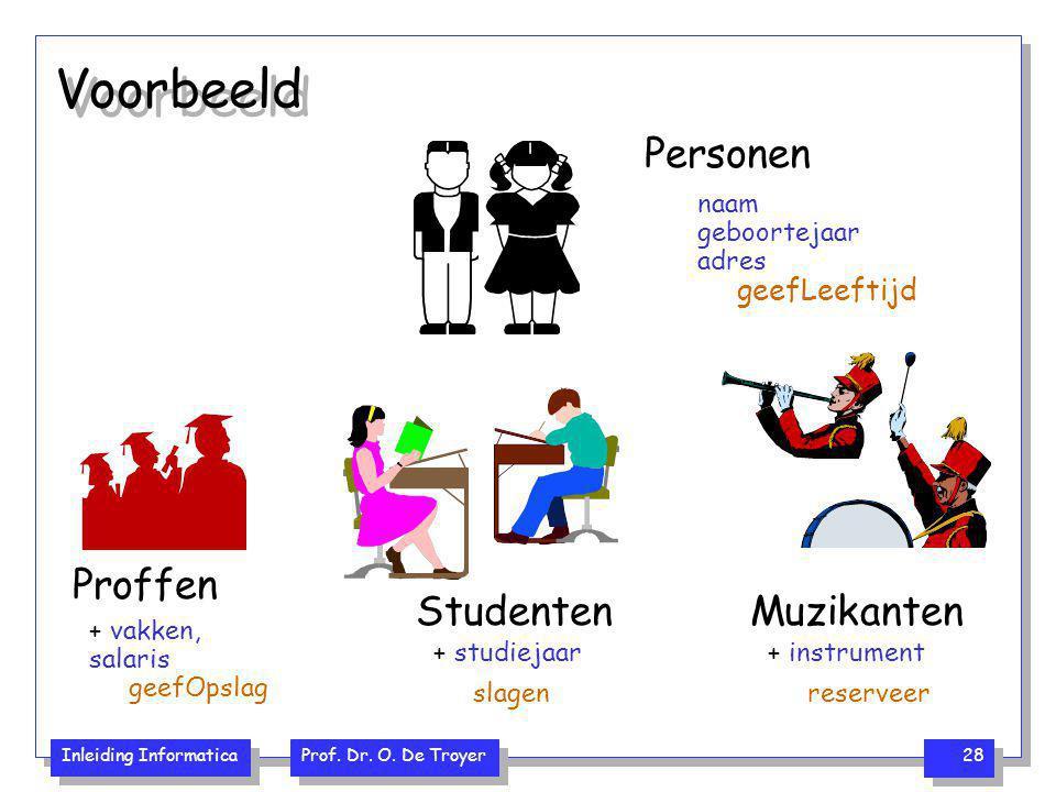 Voorbeeld Personen Muzikanten Studenten Proffen geefLeeftijd naam