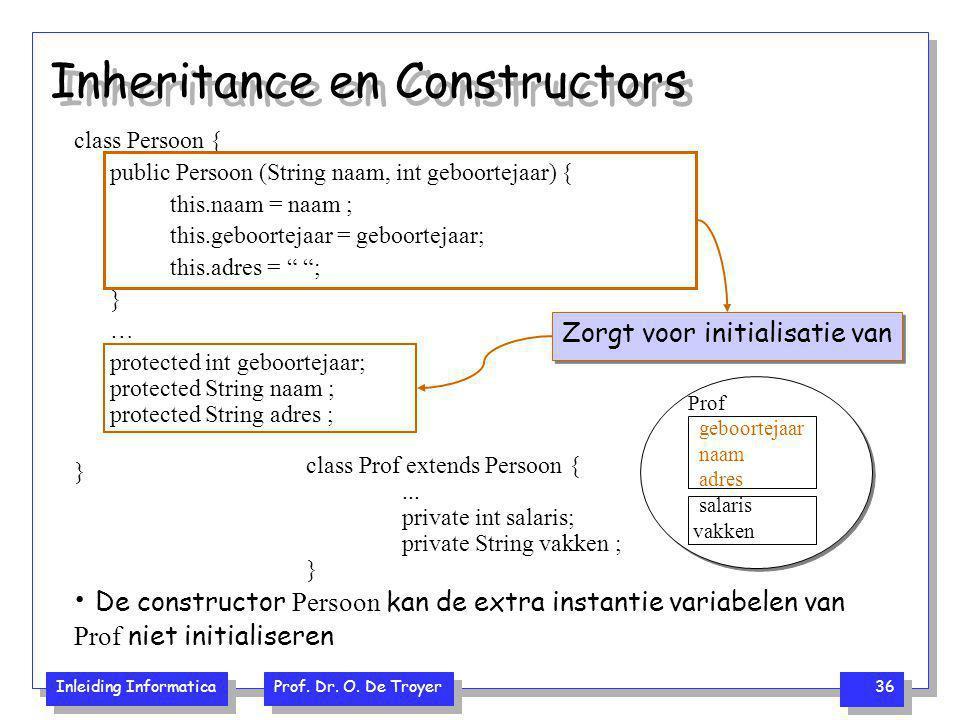 Inheritance en Constructors