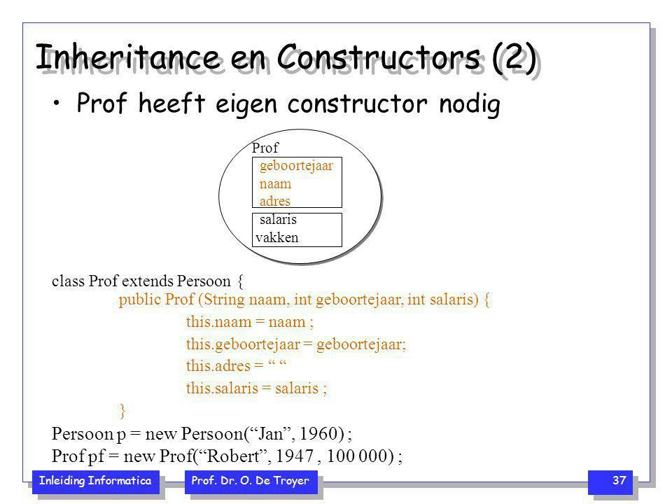 Inheritance en Constructors (2)