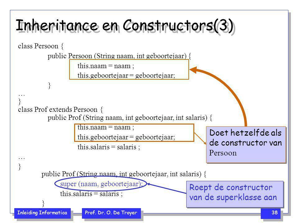 Inheritance en Constructors(3)