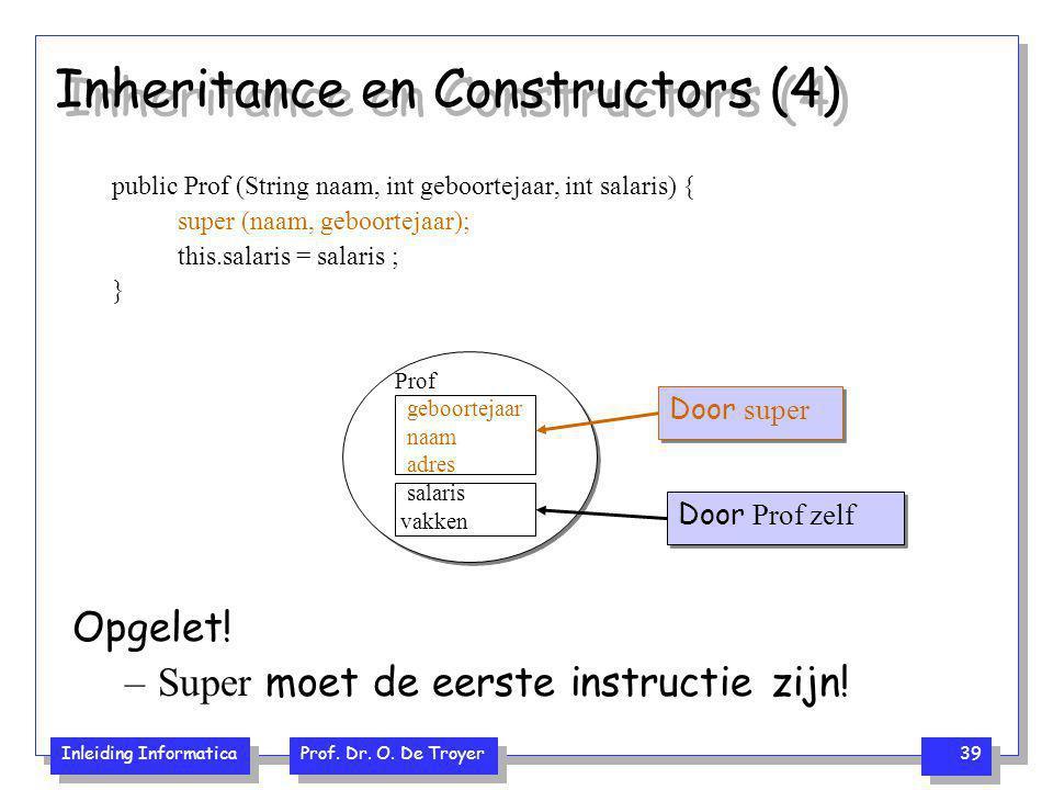 Inheritance en Constructors (4)