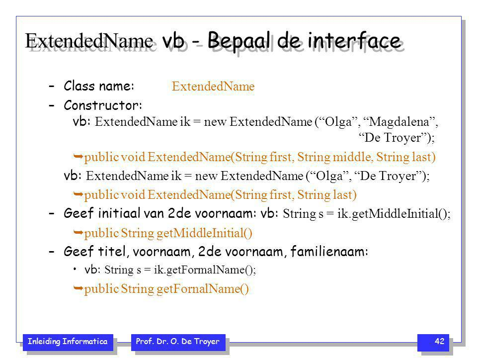ExtendedName vb - Bepaal de interface