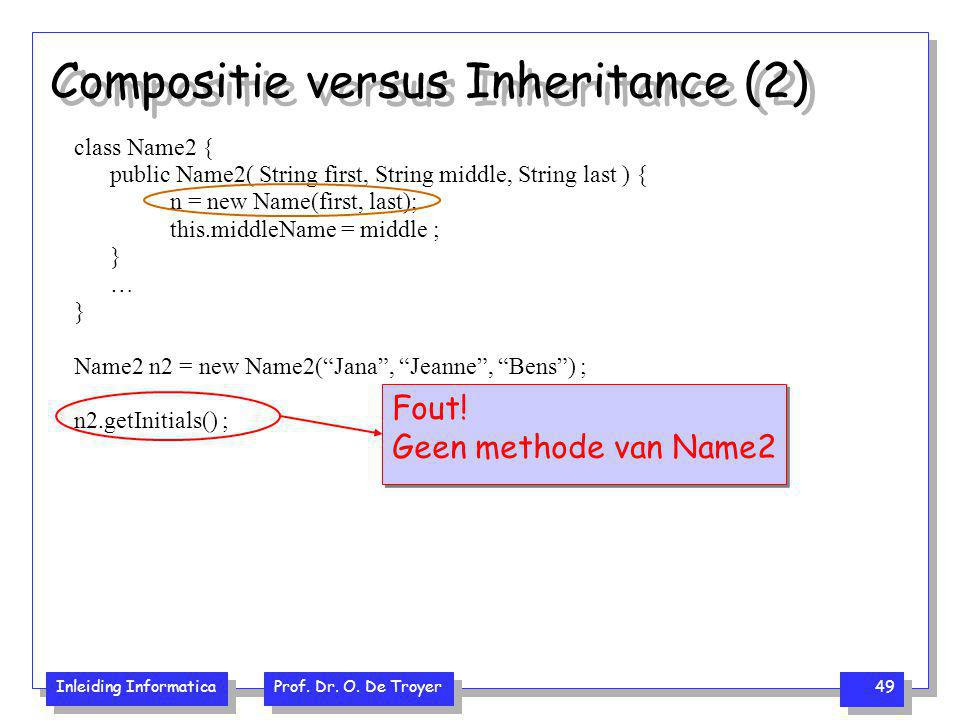 Compositie versus Inheritance (2)