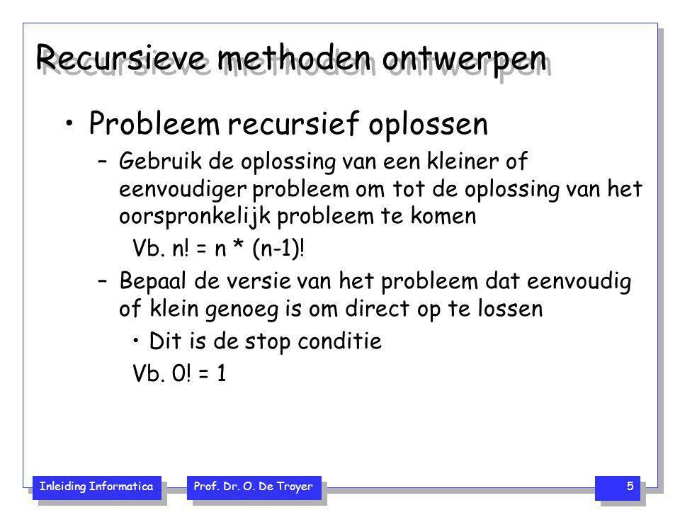 Recursieve methoden ontwerpen