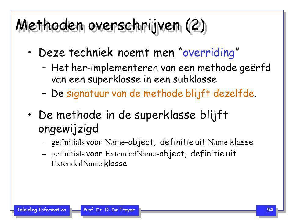 Methoden overschrijven (2)