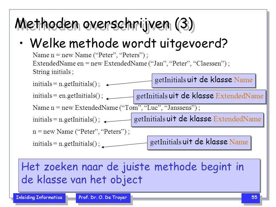 Methoden overschrijven (3)