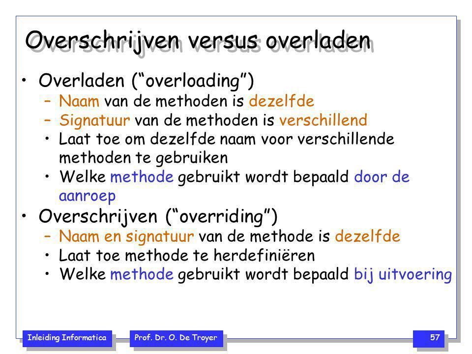 Overschrijven versus overladen