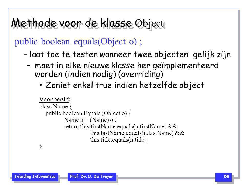Methode voor de klasse Object