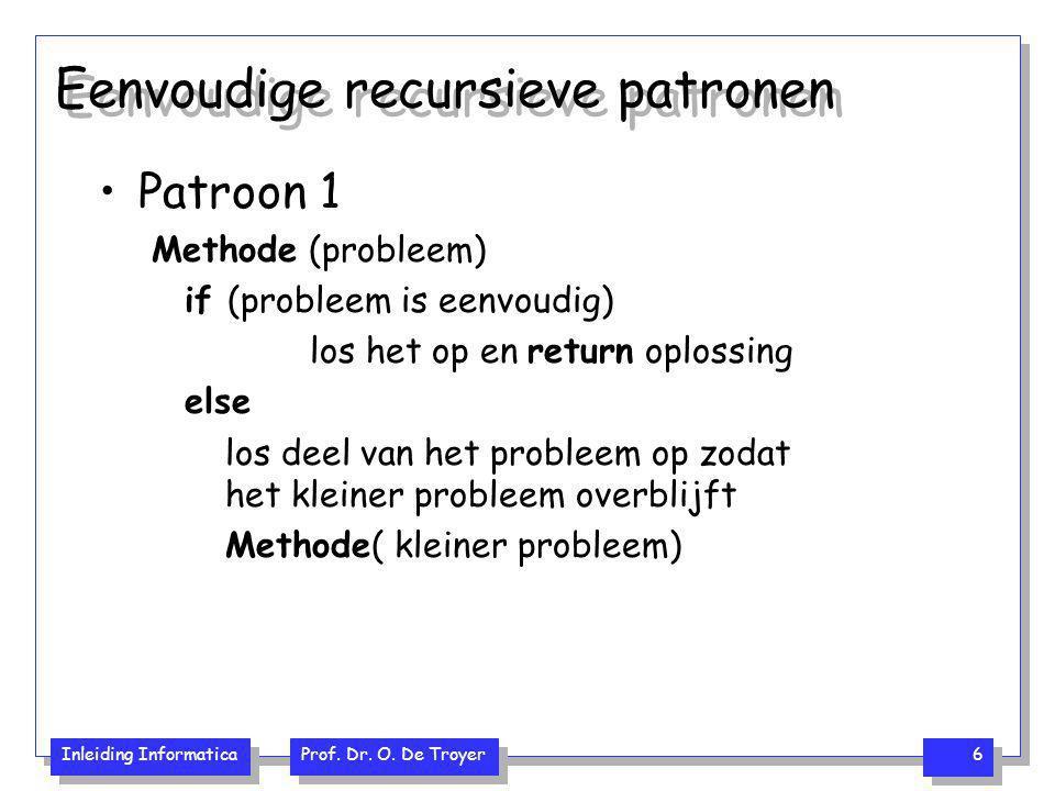 Eenvoudige recursieve patronen