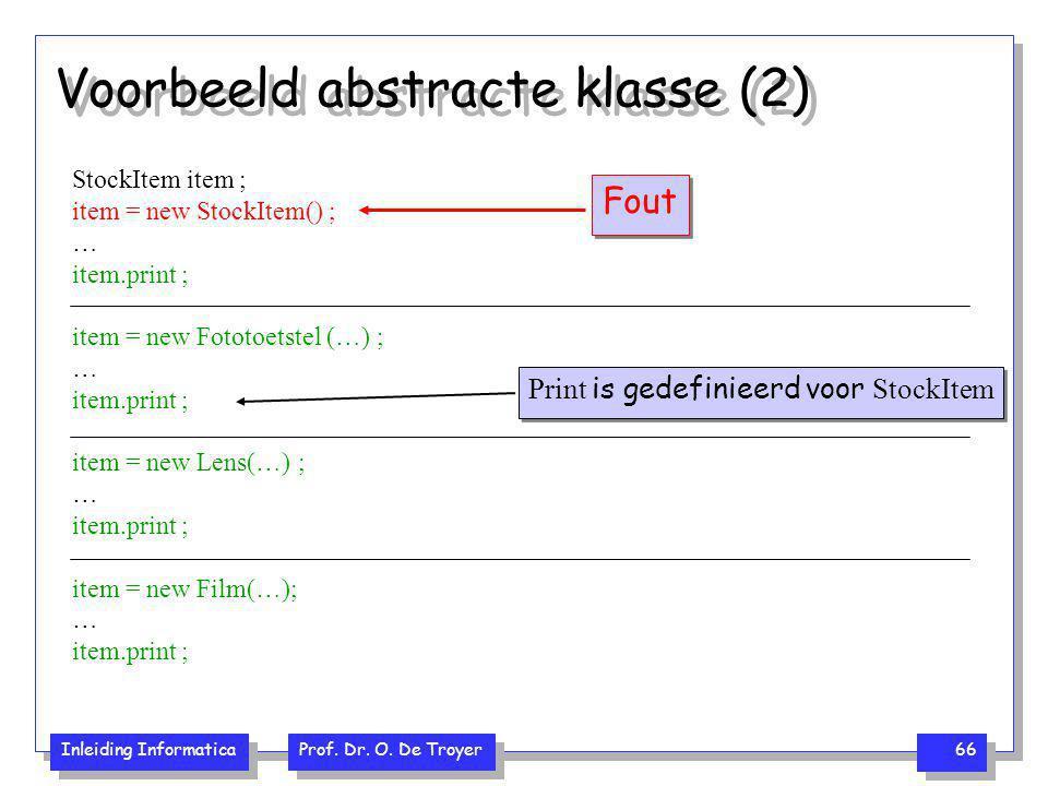 Voorbeeld abstracte klasse (2)