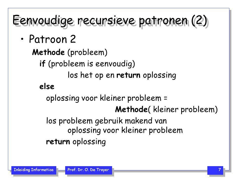 Eenvoudige recursieve patronen (2)