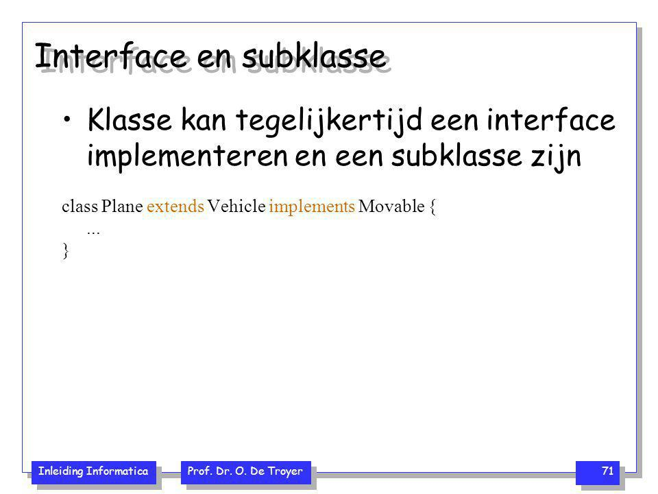 Interface en subklasse