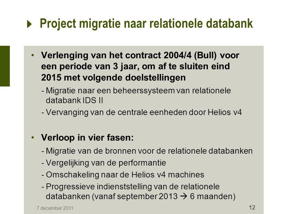 Project migratie naar relationele databank