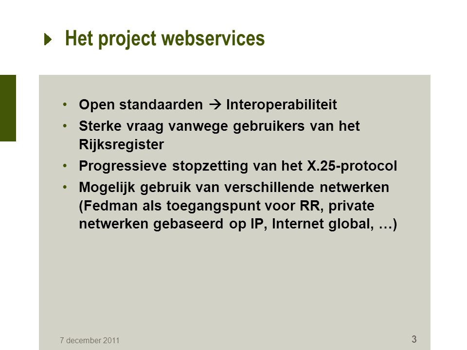 Het project webservices