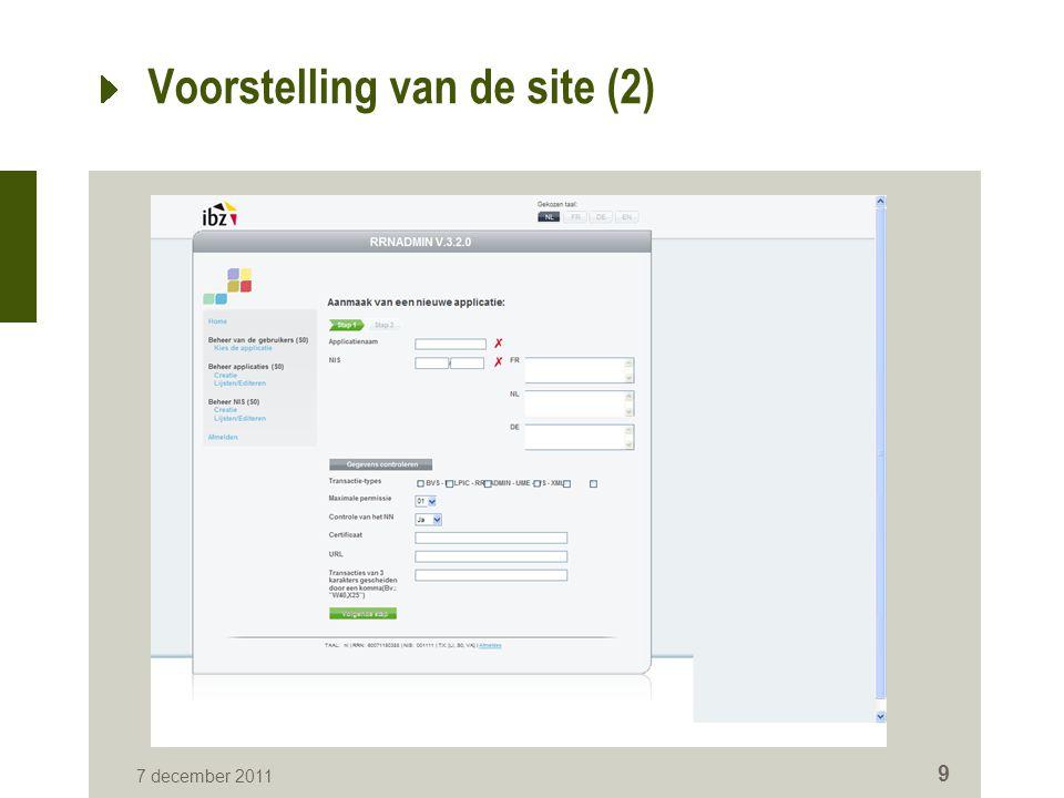 Voorstelling van de site (2)