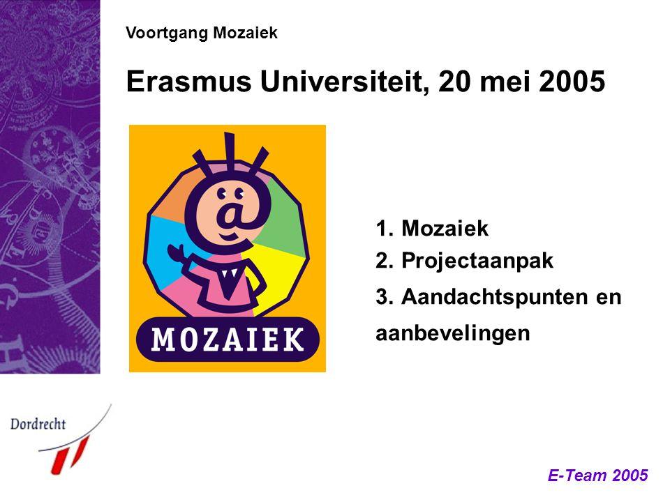 Erasmus Universiteit, 20 mei 2005