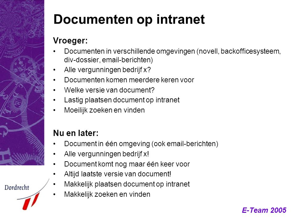 Documenten op intranet