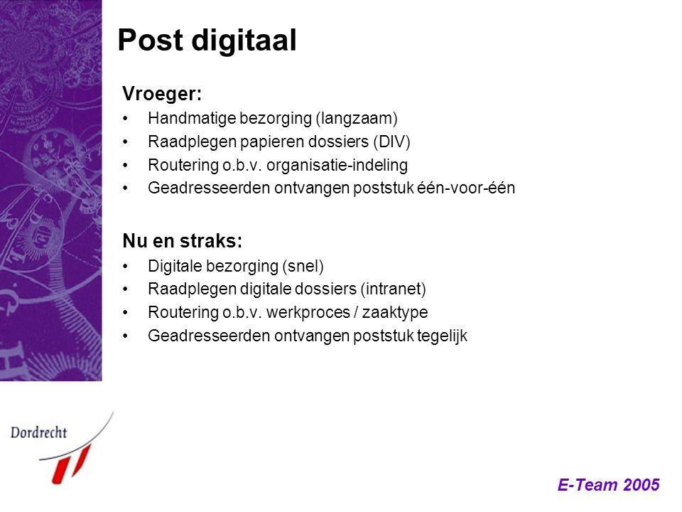 Post digitaal Vroeger: Nu en straks: Handmatige bezorging (langzaam)