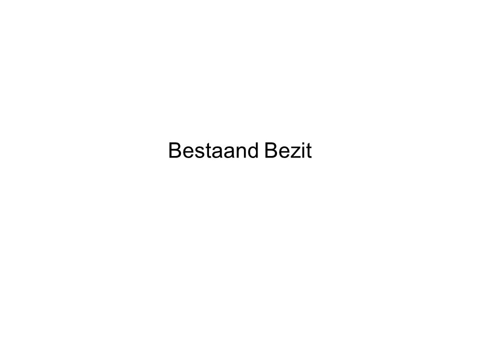 Bestaand Bezit