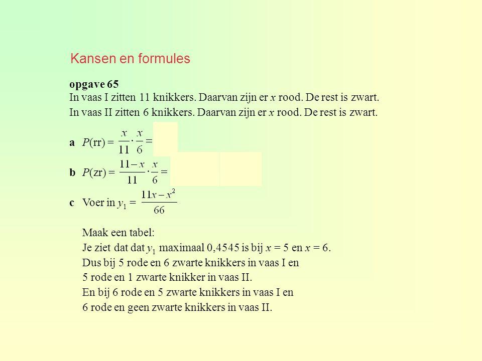 Kansen en formules opgave 65