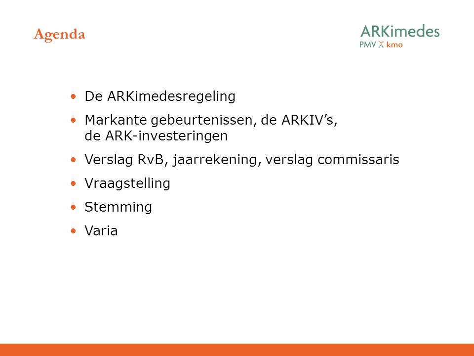 Agenda De ARKimedesregeling