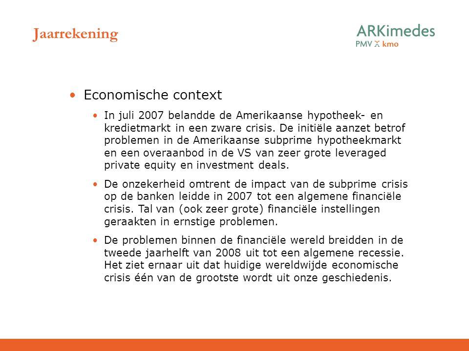 Jaarrekening Economische context