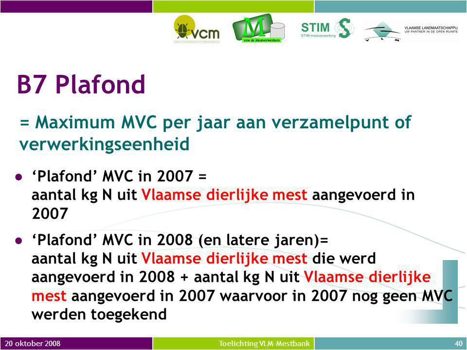 = Maximum MVC per jaar aan verzamelpunt of verwerkingseenheid