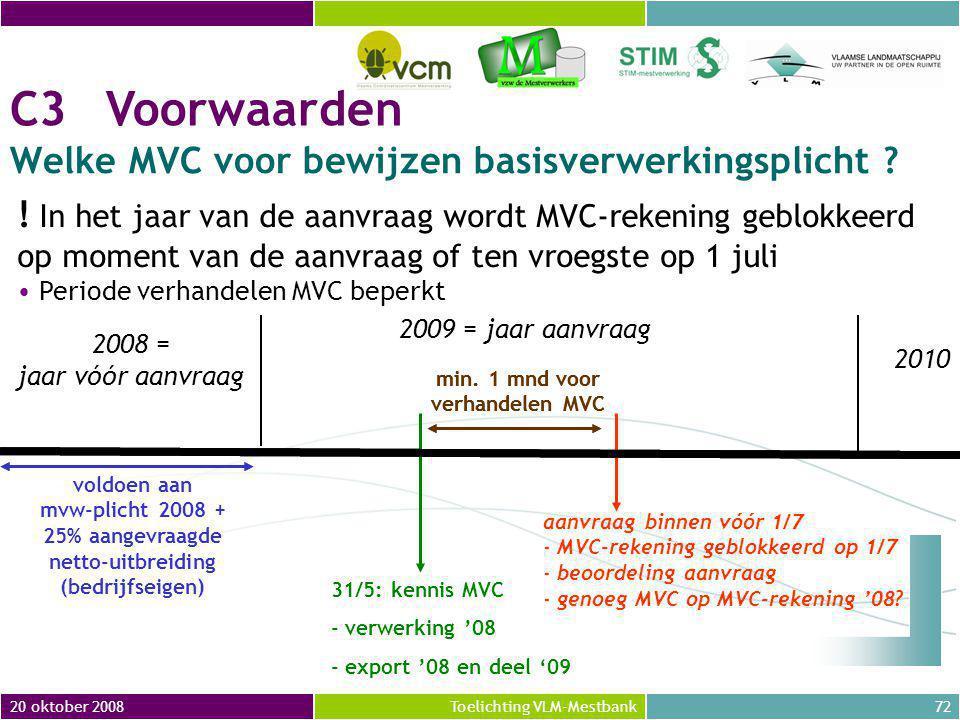 Welke MVC voor bewijzen basisverwerkingsplicht