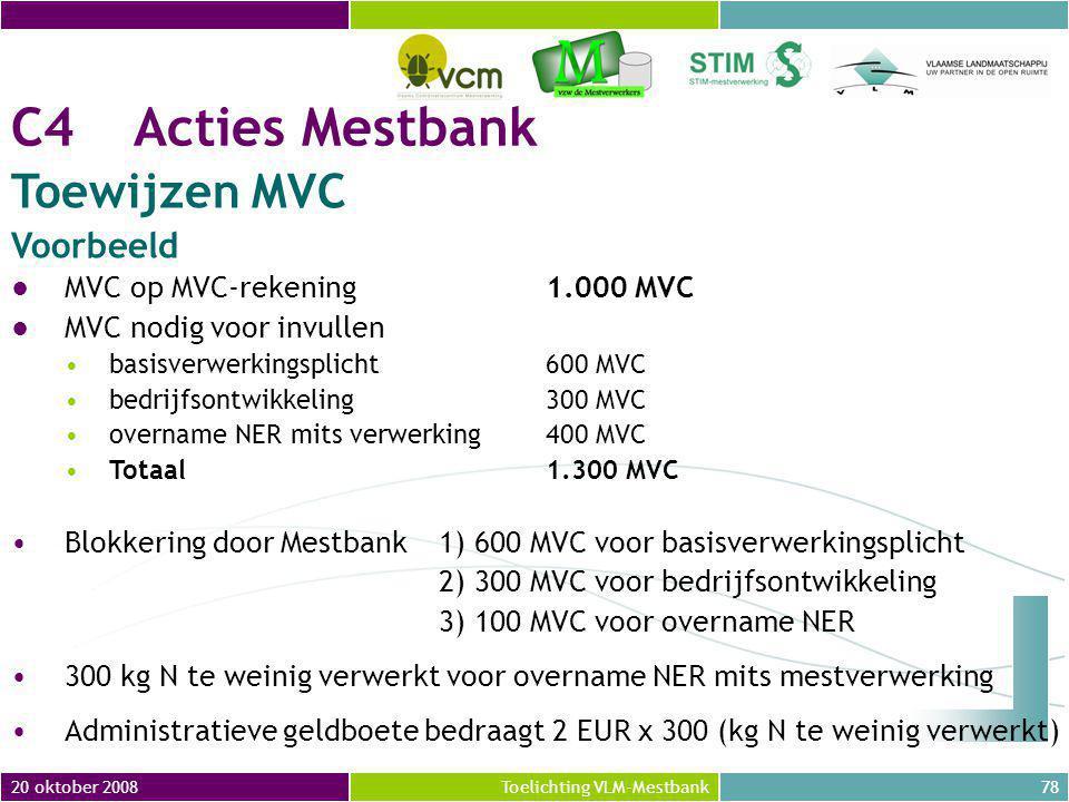 C4 Acties Mestbank Toewijzen MVC Voorbeeld