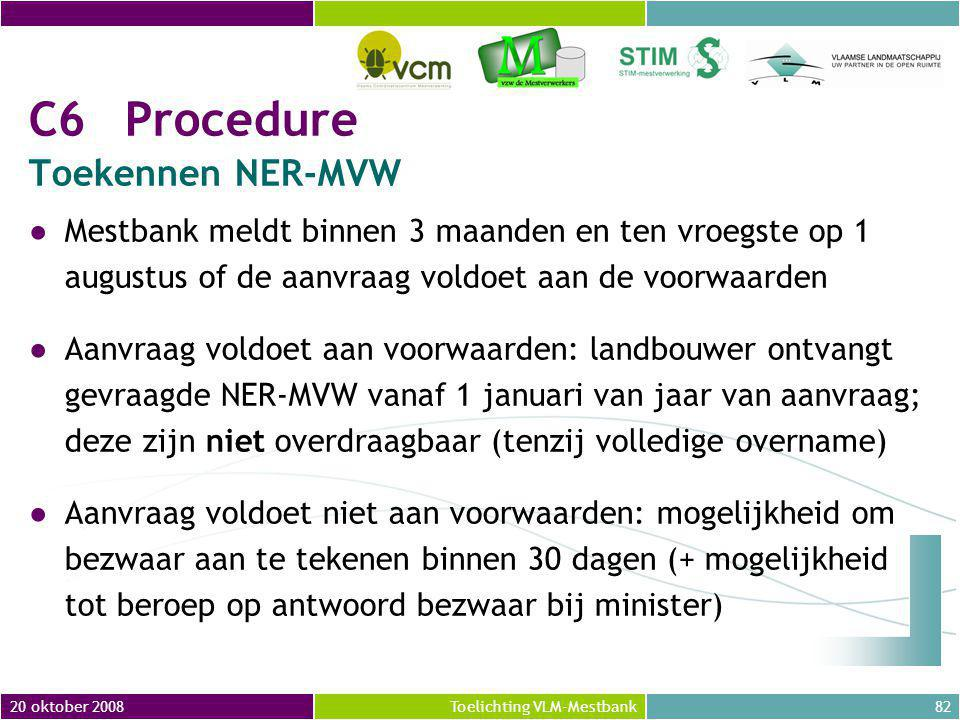 C6 Procedure Toekennen NER-MVW