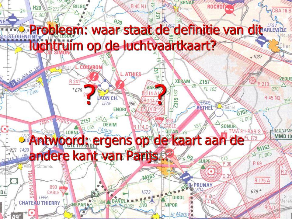Probleem: waar staat de definitie van dit luchtruim op de luchtvaartkaart