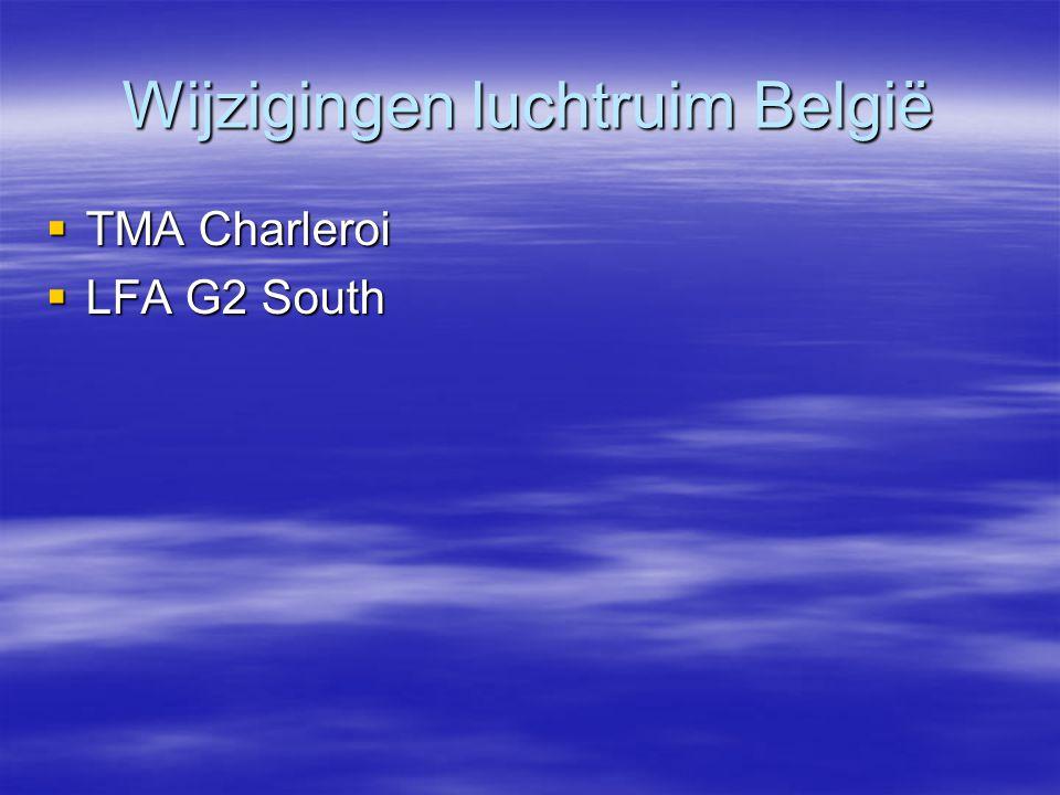 Wijzigingen luchtruim België