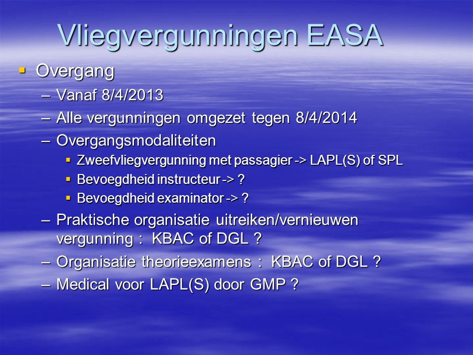 Vliegvergunningen EASA