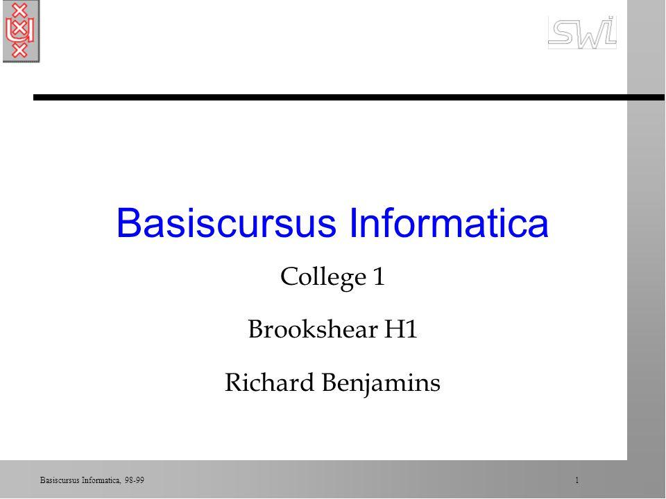 Basiscursus Informatica