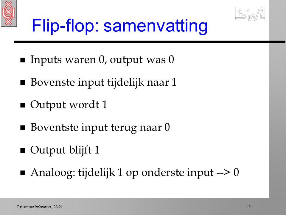 Flip-flop: samenvatting