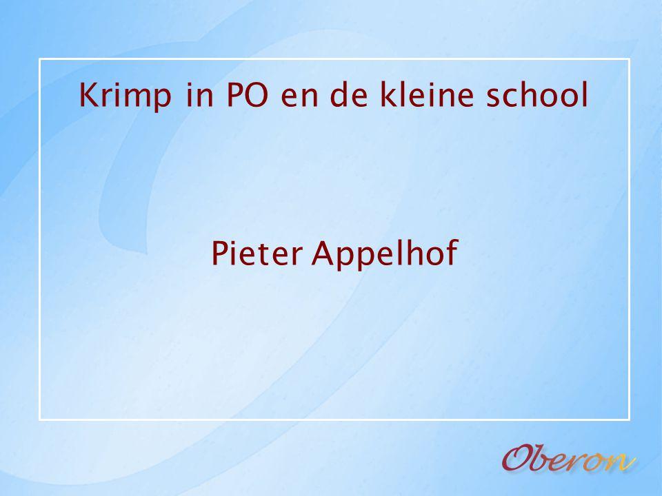 Krimp in PO en de kleine school Pieter Appelhof