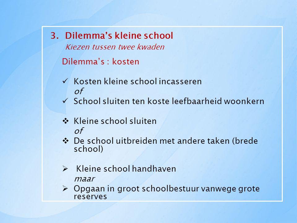 3. Dilemma's kleine school Kiezen tussen twee kwaden