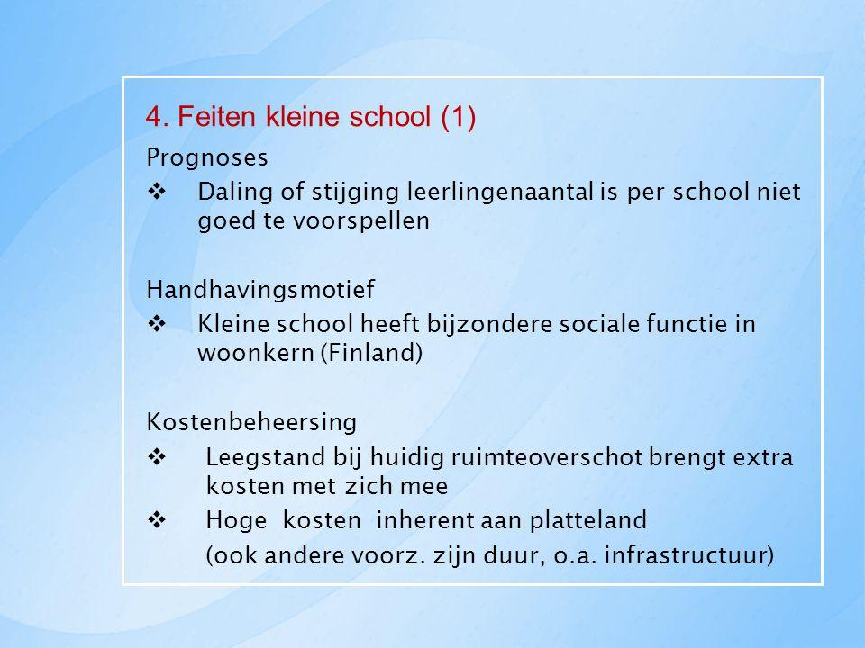 4. Feiten kleine school (1)