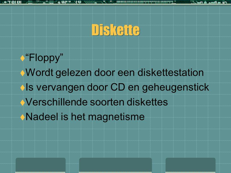 Diskette Floppy Wordt gelezen door een diskettestation