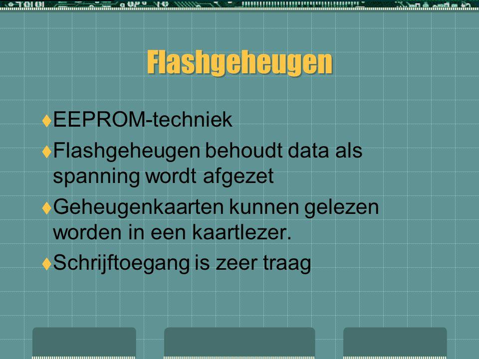 Flashgeheugen EEPROM-techniek