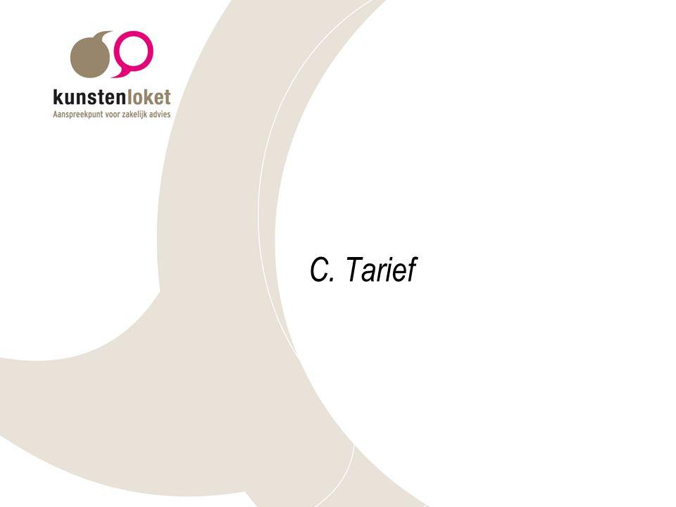 C. Tarief