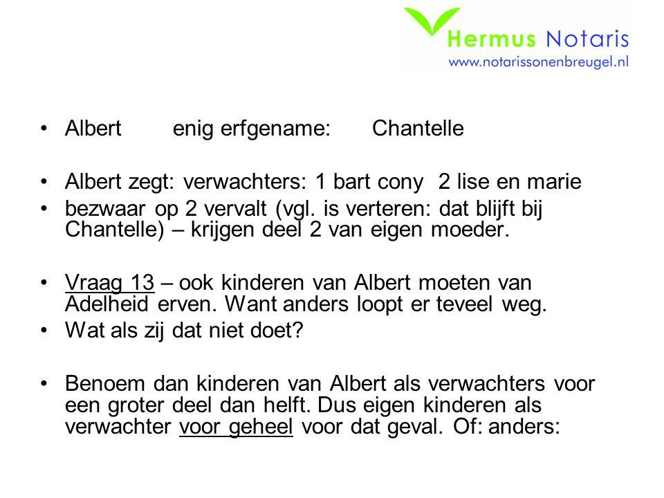 Albert enig erfgename: Chantelle