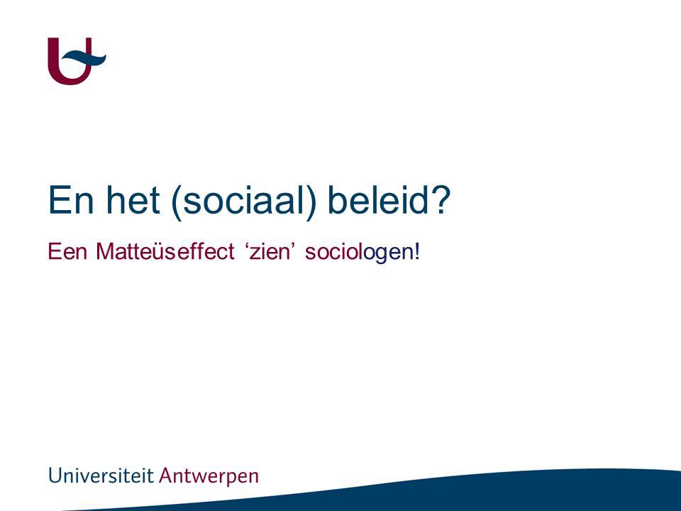En het (sociaal) beleid (1)