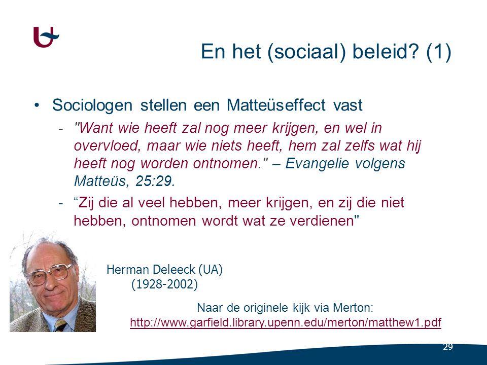 En het (sociaal) beleid