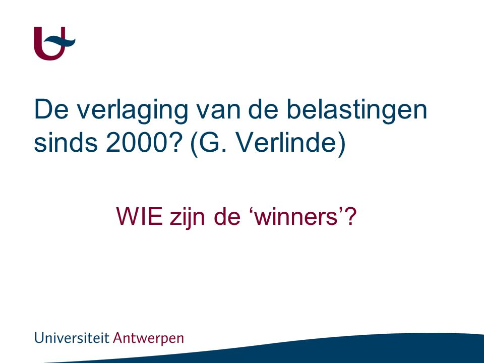 Verdeling van belastingen en sociale bijdragen over inkomensdecielen (als % van bruto inkomen) België, 2005