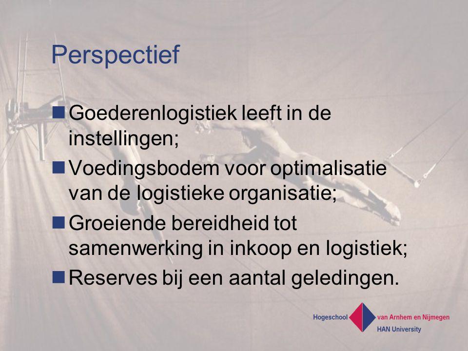 Perspectief Goederenlogistiek leeft in de instellingen;
