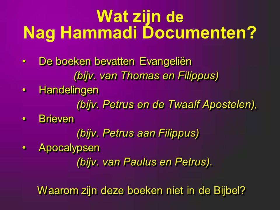 Wat zijn de Nag Hammadi Documenten